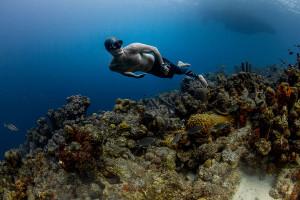 Carlos Coste Deep Dynamic no fins training, Bonaire